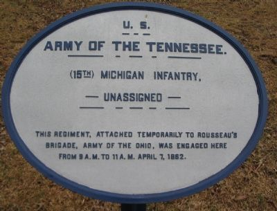 15th Michigan Infantry Tablet image. Click for full size.