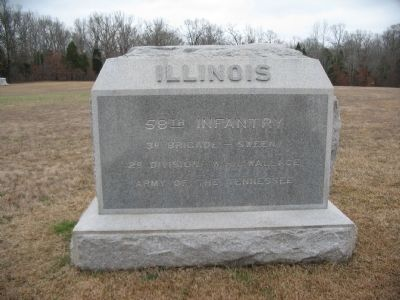58th Illinois Infantry Monument image. Click for full size.