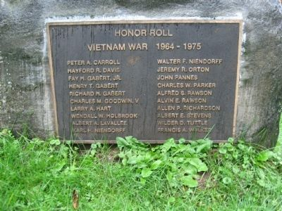 Weston Vietnam War Monument Plaque image. Click for full size.