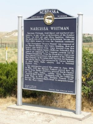 Narcissa Whitman Marker image. Click for full size.