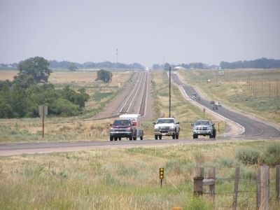 The Mormon Trail preceded US 26 and the Trans-continental Rails lines westward image. Click for full size.