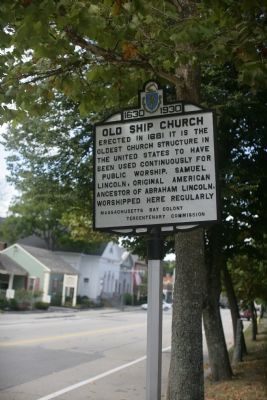 Old Ship Church Marker image. Click for full size.