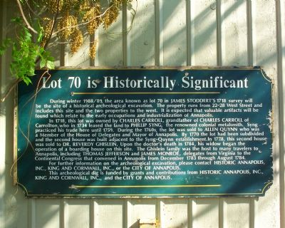 Lot 70 Is Historically Significant Marker image. Click for full size.