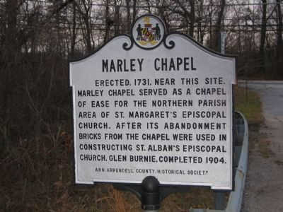 Marley Chapel Marker image. Click for full size.