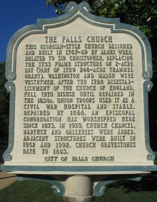 The Falls Church Marker image. Click for full size.