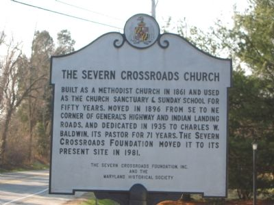 The Severn Crossroads Church Marker image. Click for full size.