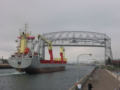 Aerial Lift Bridge (Raised) image. Click for full size.