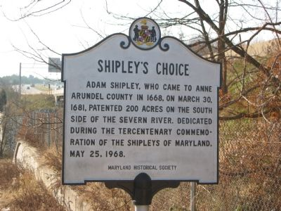 Shipley's Choice Marker image. Click for full size.