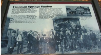 Paeonian Springs Station Marker image. Click for full size.