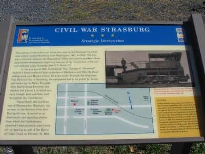 Civil War Strasburg Marker image. Click for full size.