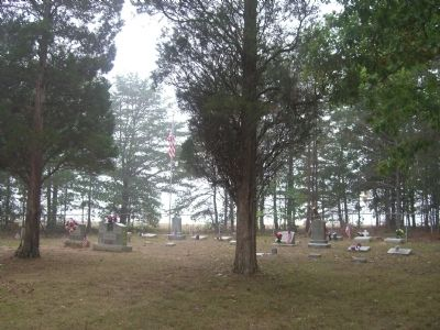 The Wolfendens are interred in this corner of the Belle Haven Baptist Church Cemetery image. Click for full size.
