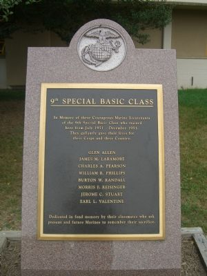 9th Special Basic Class Marker image. Click for full size.
