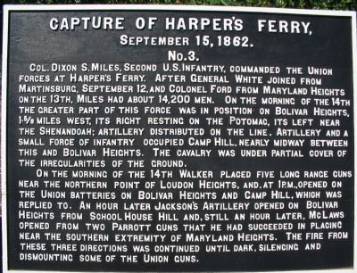 Capture of Harpers Ferry Marker image. Click for full size.