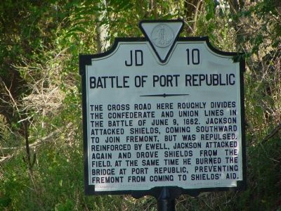 Battle of Port Republic Marker image. Click for full size.