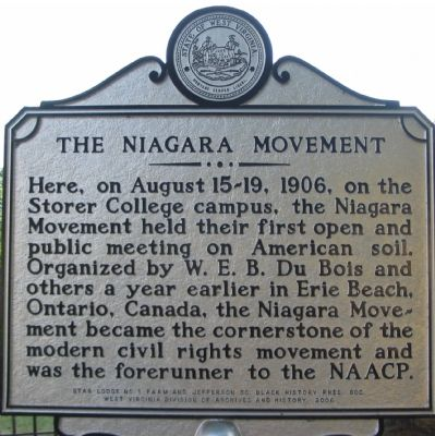 The Niagara Movement Marker image. Click for full size.