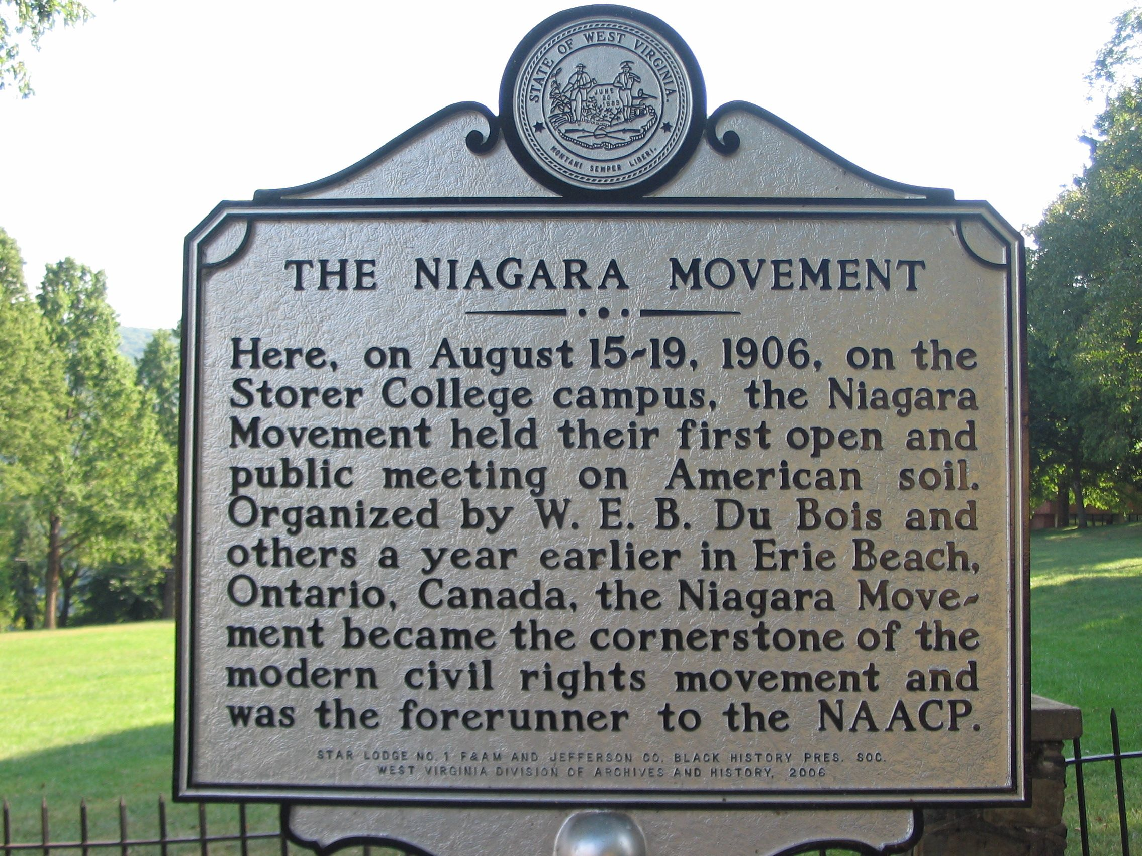 The Niagara Movement Marker