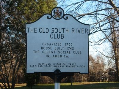 The Old South River Club Marker image. Click for full size.