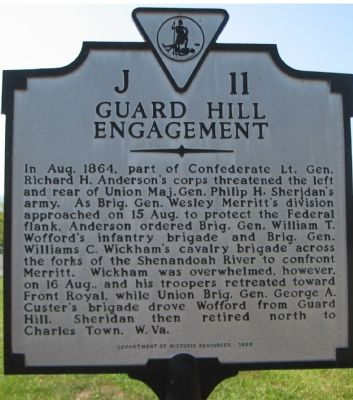 Guard Hill Engagement Marker image. Click for full size.