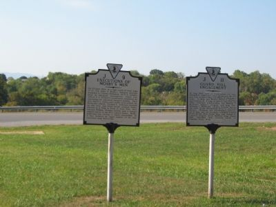 Two Virginia State Markers Beside Highway 340 image. Click for full size.