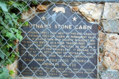 Putnam's Stone Cabin Marker image. Click for full size.