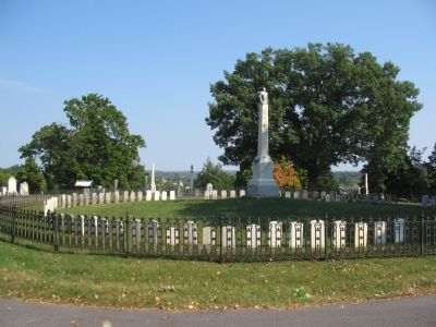 Prospect Hill Cemetery Marker and the Soldier's Circle image. Click for full size.