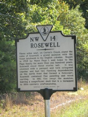Rosewell Marker image. Click for full size.