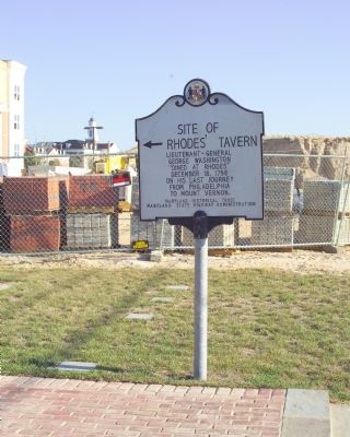 Site of Rhodes' Tavern Marker image. Click for full size.