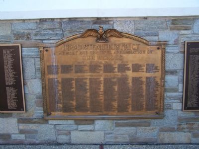 Hampstead District Marker War Memorial image. Click for full size.