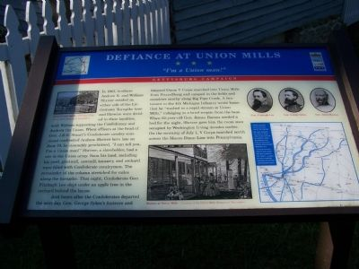 Defiance at Union Mills Marker image. Click for full size.