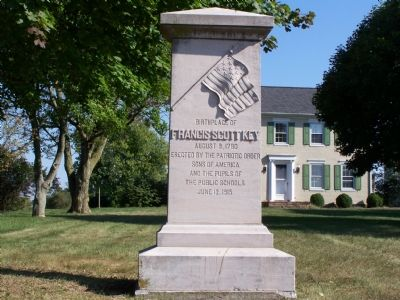 Birthplace of Francis Scott Key Marker image. Click for full size.