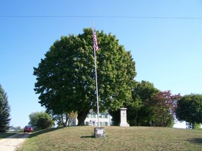 Flag Pole, Monument and Home image. Click for full size.