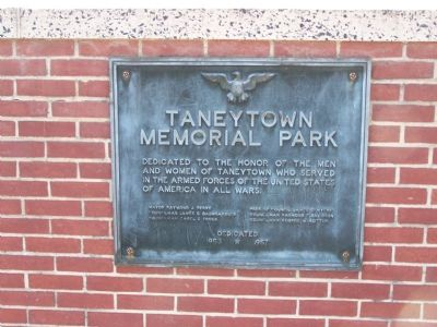 Taneytown Memorial Park Marker image. Click for full size.