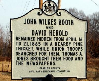 John Wilkes Booth and David Herold Marker image. Click for full size.