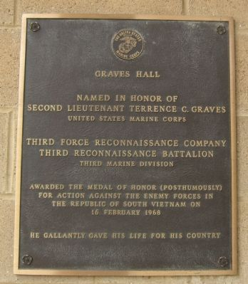 Graves Hall Marker image. Click for full size.