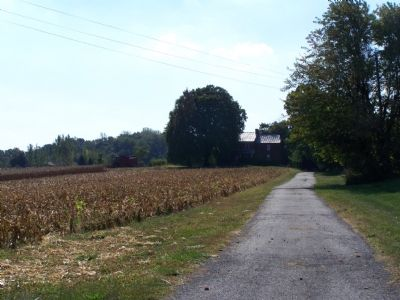 Farm near marker. image. Click for full size.