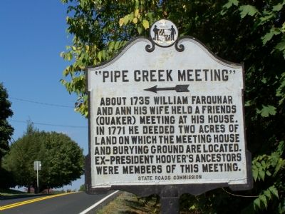"""Pipe Creek Meeting"" Marker image. Click for full size."