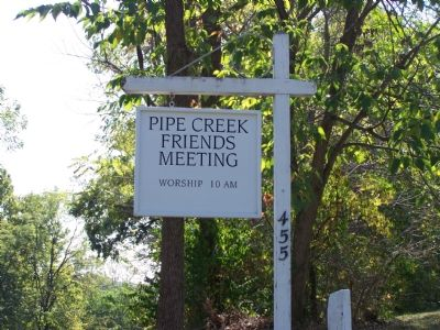 Pipe Creek Friends Meeting Sign image. Click for full size.