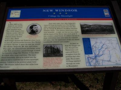 New Windsor * * * Village by Moonlight Marker image. Click for full size.