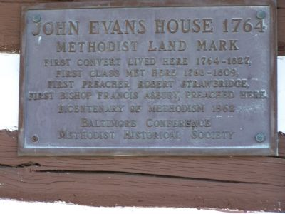 John Evans House 1764 Marker image. Click for full size.