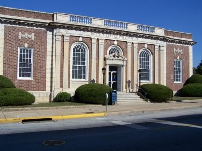 United States Post Office, Westminster, MD image. Click for full size.