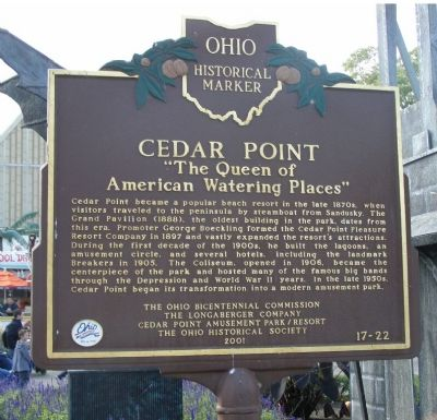 Cedar Point Marker image. Click for full size.