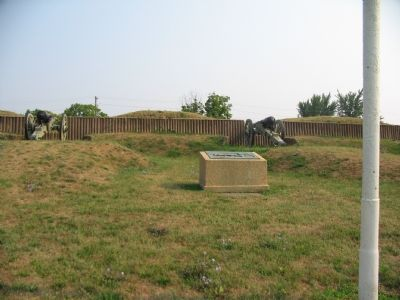 Interior of the Reconstructed Fort Stevens image. Click for full size.