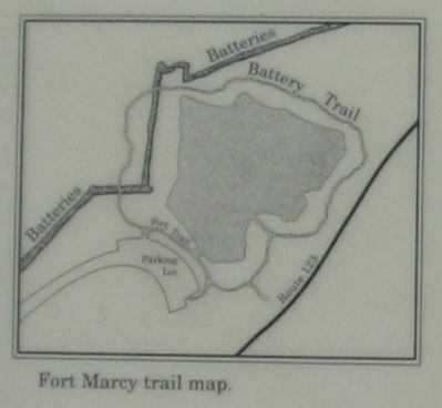 Fort Marcy Trail Map image. Click for full size.