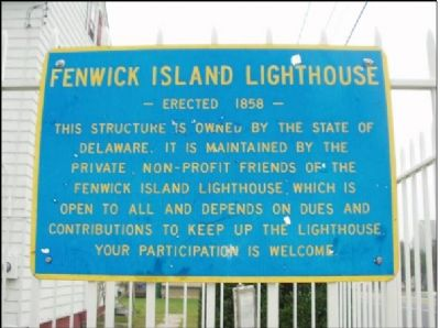 Another Fenwick Island Lighthouse Marker at the sight. image. Click for full size.