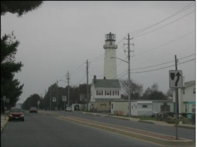Fenwick Island Lighthouse from the East. image. Click for full size.