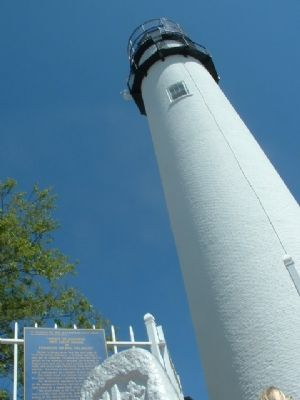 The Fenwick Island Lighthouse and Informational Marker image. Click for full size.