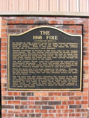 The 1918 Fire Marker image. Click for full size.