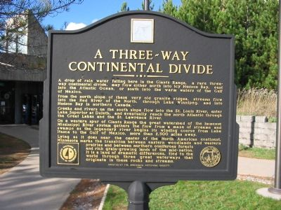 A Three-Way Continental Divide Marker image. Click for full size.