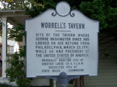 Worrell's Tavern Marker image. Click for full size.