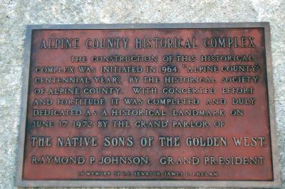 Alpine County Historical Complex Marker image. Click for full size.